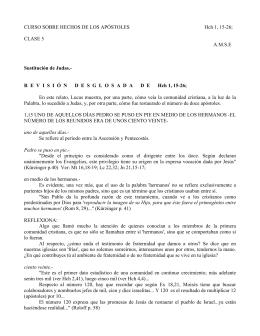 CURSO SOBRE HECHOS DE LOS APÓSTOLES