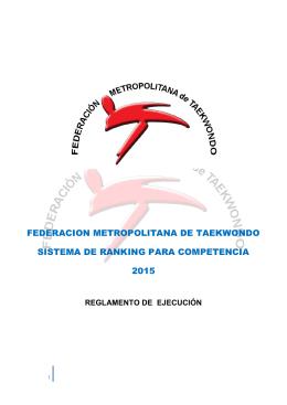 Ranking Metro 2015 - federación metropolitana de taekwondo