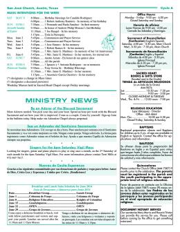 June 1, 2014 - San Jose Catholic Church