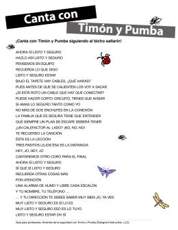 Timón y Pumba Canta con