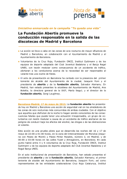 La Fundación A conducción responsable discotecas de Madrid y B