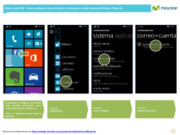 Nokia Lumia 520 - Configurar correo Outlook o