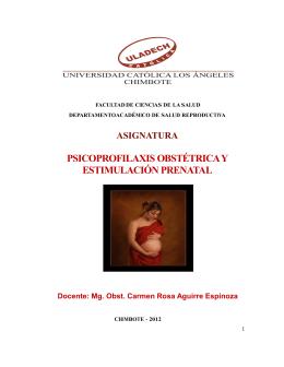 PSICOPROFILAXIS OBSTÉTRICA Y ESTIMULACIÓN PRENATAL