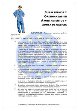 subalternos y ordenanzas de ayuntamientos y xunta de galicia