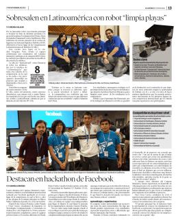 """Sobresalen en Latinoamérica con robot """"limpia playas"""" Destacan en"""