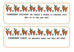 PROVERBIO ITALIANO: Un tomate a medias es amistad, entre doce
