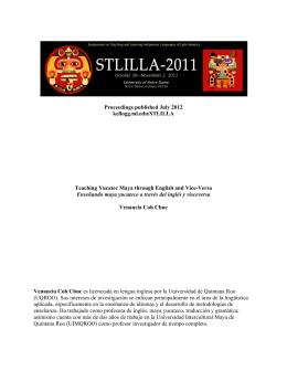 Enseñando maya yucateco a través del inglés y visceversa