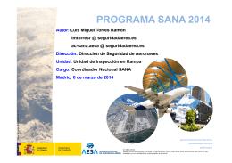 PROGRAMA SANA 2014 - Agencia Estatal de Seguridad Aérea