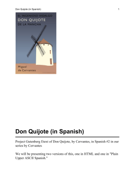 Don Quijote (in Spanish)