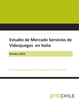 2012 Estudio de Mercado Videojuegos – Italia