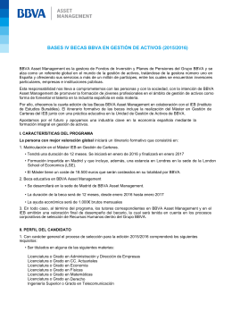 BASES IV BECAS BBVA EN GESTIÓN DE ACTIVOS (2015/2016)