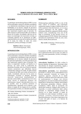 Semiología en otorrinolaringología. Semiology in otolaryngology