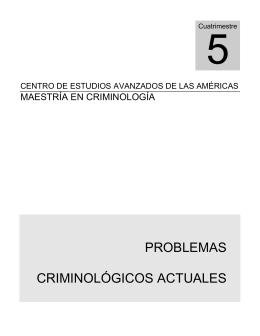 PROBLEMAS CRIMINOLÓGICOS ACTUALES