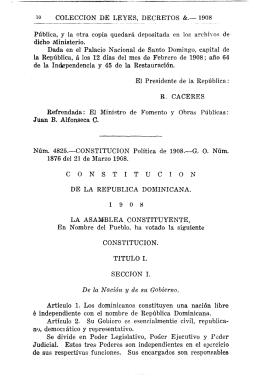Constitución 1908