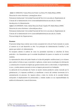 principios de la administracion cientifica (taylor)
