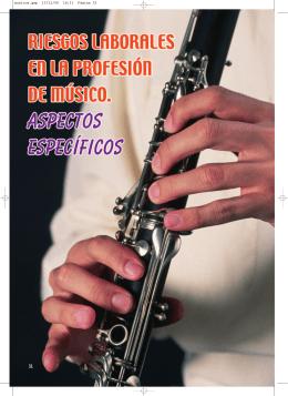 Riesgos laborales en la profesión de músico. Aspectos específicos.