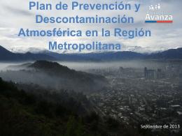 Plan de Prevención y Descontaminación Atmosférica en la Región