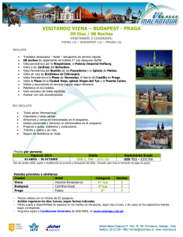 VISITANDO VIENA – BUDAPEST - PRAGA