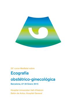 Ecografía obstétrico-ginecológica - Hospital Universitari Vall d`Hebron