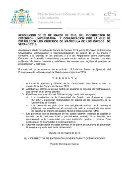 Normas de Matricula - Inicio Uniovi Directo