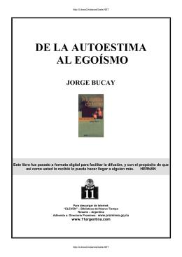 PDF Bucay, Jorge - De la autoestima al egoísmo