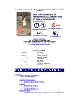 guía latinoamericana de tecnologías alternativas en agua y