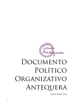 Documento Político Organizativo Antequera