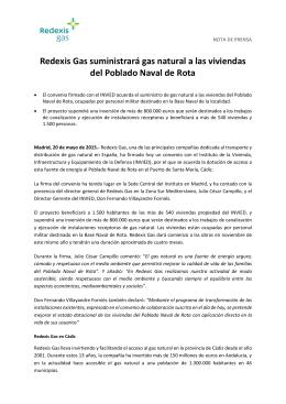 Redexis Gas suministrará gas natural a las viviendas del Poblado