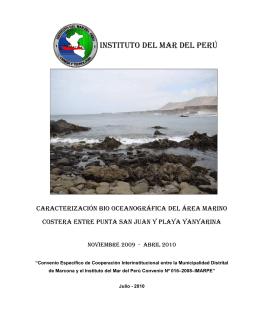 INSTITUTO DEL MAR DEL PERÚ - Ministerio de la Producción