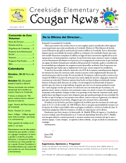 Creekside Cougar News October 2014 ESP