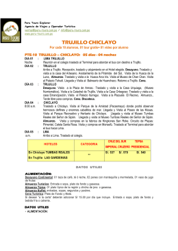 Chiclayo Trujillo Tour 5 Dias