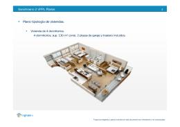 Plano tipología de viviendas.