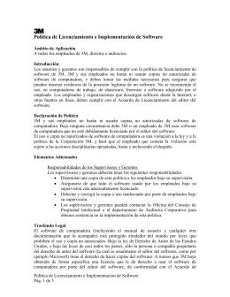 Política de Licenciamiento e Implementación de Software