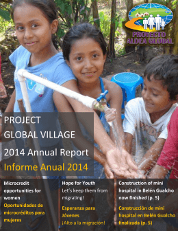 PROJECT GLOBAL VILLAGE 2014 Annual Report Informe Anual 2014