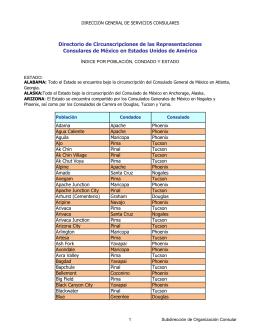 Directorio de Circunscripciones de las Representaciones