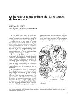 La herencia iconográfica del Dios Bufón de los mayas