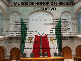 MURO DE HONOR DEL RECINTO LEGISLATIVO