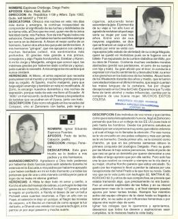 NOMBRE:Espinosa Chiriboga, Diego Pedro APODOS: Kikino, Keki
