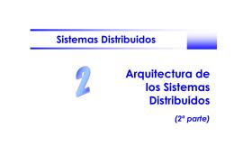 Arquitectura de los Sistemas Distribuidos