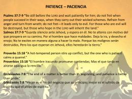 PATIENCE – PACIENCIA
