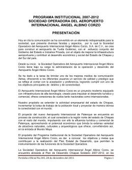 Programa Institucional Sociedad Operadora del Aereopuerto