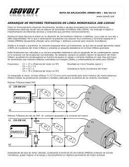 arranque de motores trifasicos en linea monofasica 208