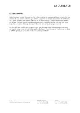 nota de prensa - La Caja Blanca