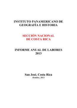 INSTITUTO PANAMERICANO DE GEOGRAFÌA E HISTORIA
