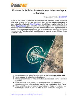 15 datos de la Palm Jumeirah, una isla creada por el hombre
