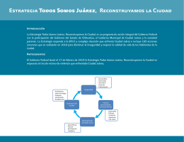 Estrategia Todos Somos Juárez, Reconstruyamos la Ciudad