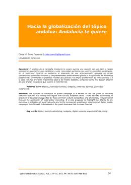 Hacia la globalización del tópico andaluz: Andalucía te