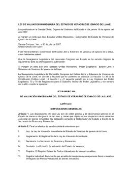 Ley de valuación inmobiliaria del estado de Veracruz
