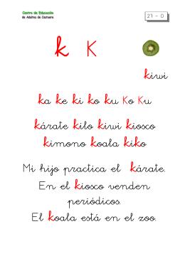 metodo de lectoescritura letra k