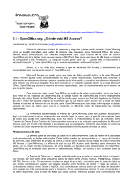 OpenOffice.org: ¿Dónde está MS Access?